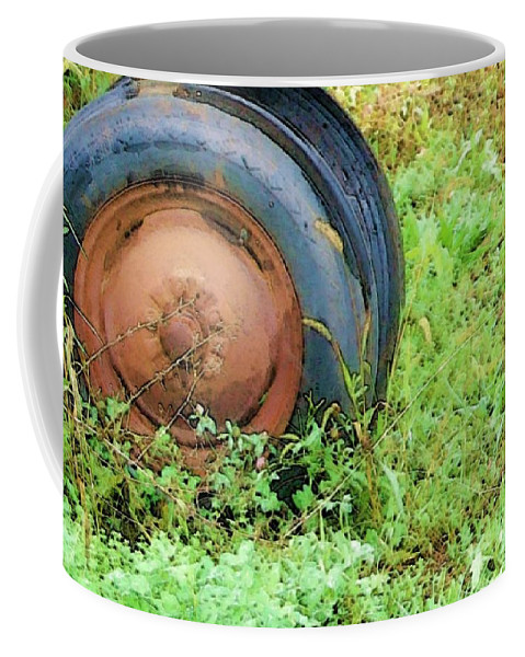 Tire Coffee Mug featuring the photograph Tired by Debbi Granruth