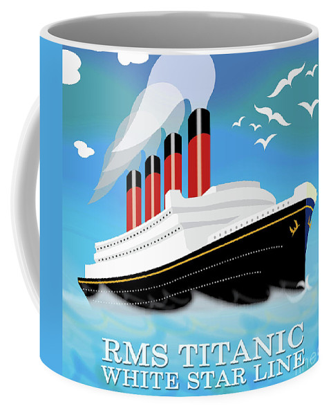 Ship Coffee Mug featuring the painting Titanic by Neil Finnemore