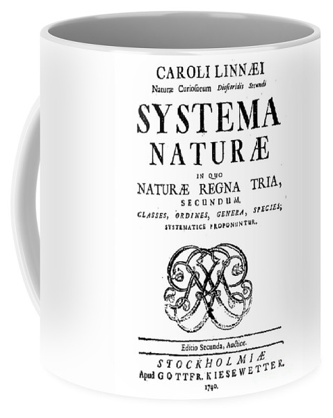Historic Coffee Mug featuring the photograph Title Page, Systema Naturae, Carl by Science Source