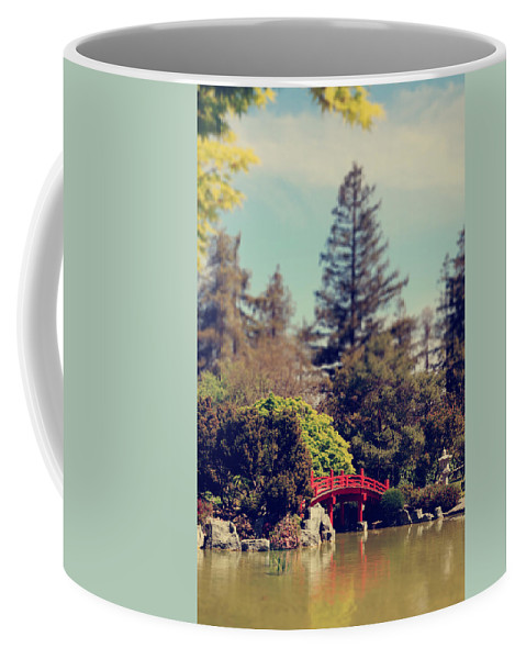 Japanese Friendship Garden Coffee Mug featuring the photograph To A Faraway Land by Laurie Search