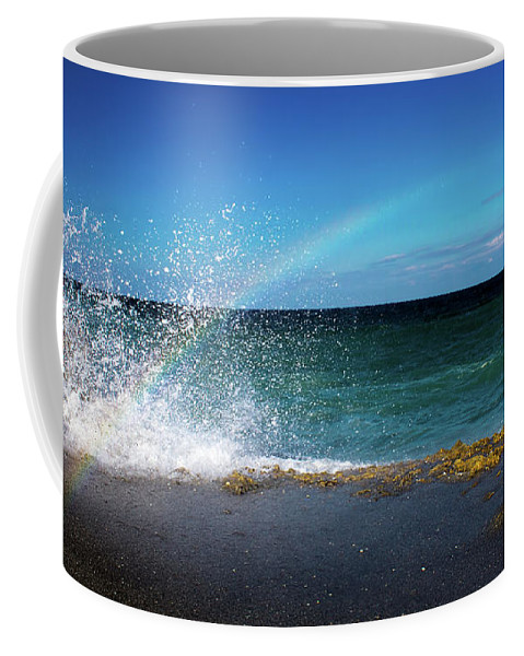 Rainbow Coffee Mug featuring the photograph To Catch A Rainbow by Mark Andrew Thomas