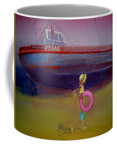 Penzance Coffee Mug featuring the painting To The Lighthouse by Charles Stuart