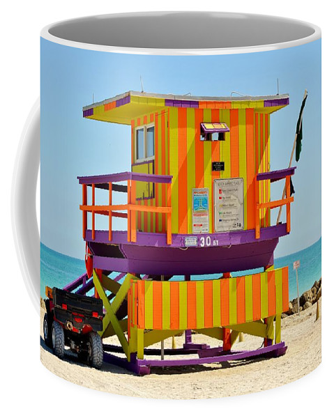 Miami Beach Coffee Mug featuring the photograph To The Rescue 3 by Rene Triay Photography