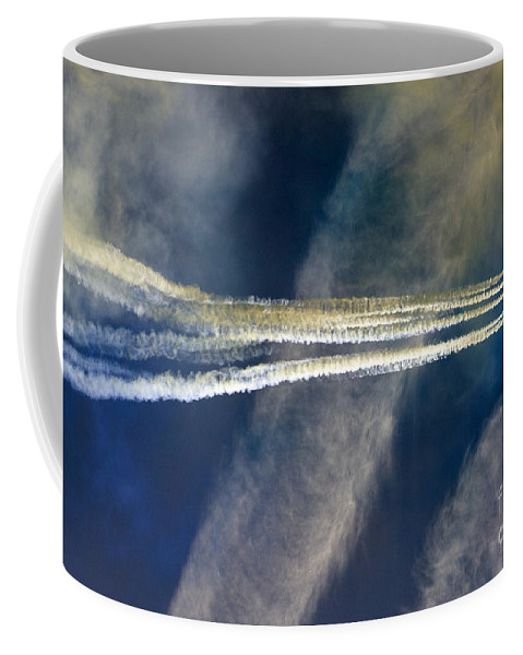 Red Arrows Coffee Mug featuring the photograph To The Stratosphere by Angel Ciesniarska