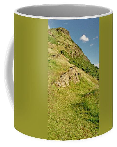 Edinburgh Coffee Mug featuring the photograph To The Top Of Arthur's Seat. by Elena Perelman