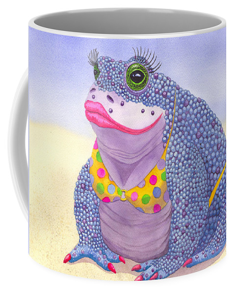 Toad Coffee Mug featuring the painting Toadaly Beautiful by Catherine G McElroy