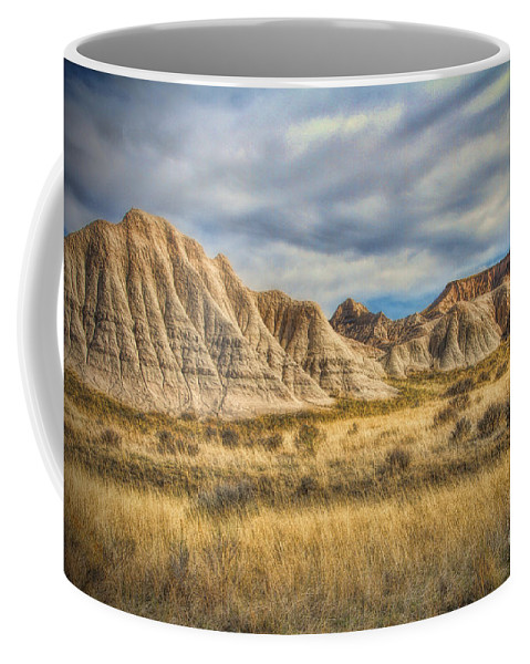 Nebraska Oglala National Grasslands Coffee Mug featuring the photograph Toadstool Geologic Park by Elizabeth Winter
