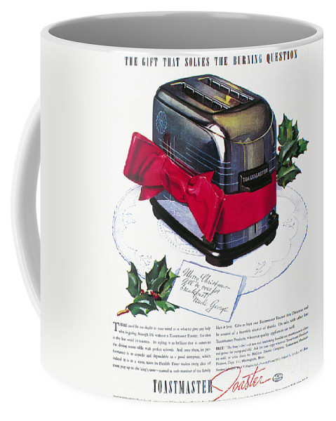 1937 Coffee Mug featuring the photograph Toaster Ad, 1937 by Granger