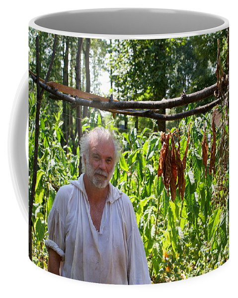 Tobacco Coffee Mug featuring the photograph Tobacco Farmer by Jean Haynes