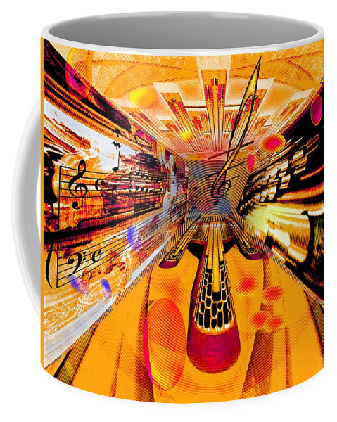 Toccata Coffee Mug featuring the digital art Toccata- Masters View by Helmut Rottler