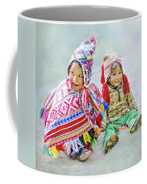 Peru Coffee Mug featuring the photograph Toddler Dolls by Claude LeTien