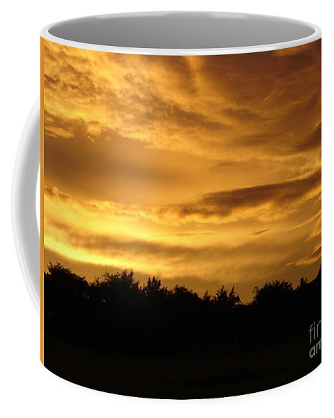 Sunset Coffee Mug featuring the photograph Toffee Sunset by Carol Lynch