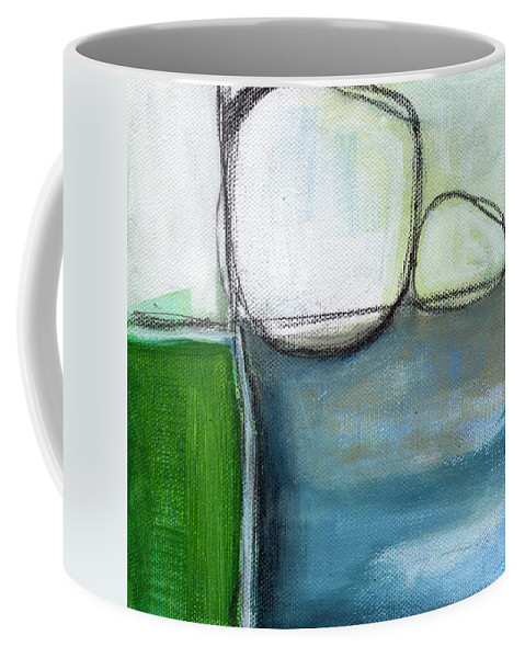 Abstract Coffee Mug featuring the painting Together by Linda Woods