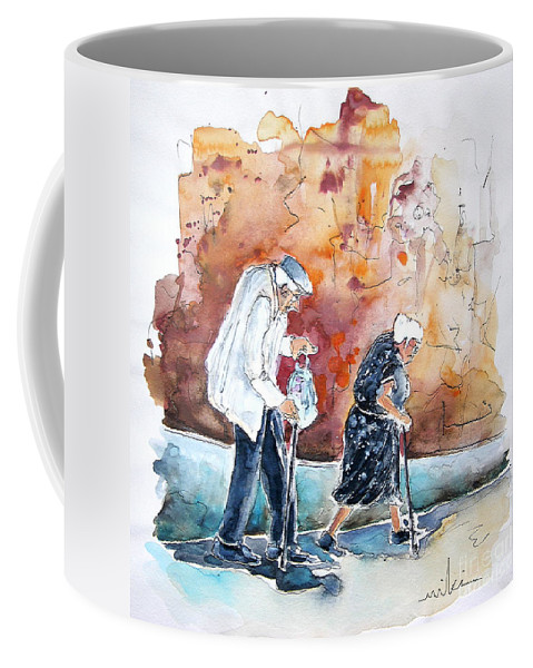 Portugal Paintings Coffee Mug featuring the painting Together Old In Portugal 01 by Miki De Goodaboom