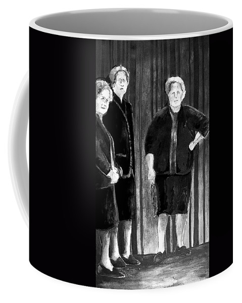 Tarbena. Spain People Coffee Mug featuring the painting Together Old In Spain 01 by Miki De Goodaboom