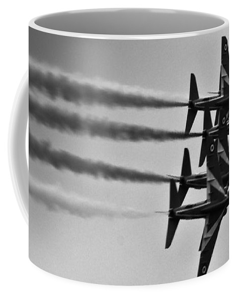 Red Arrows Coffee Mug featuring the photograph Together We Fly by Angel Ciesniarska