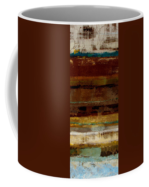 Abstract Coffee Mug featuring the painting Togetherness by Ruth Palmer