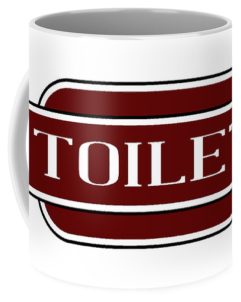 Toilet Coffee Mug featuring the digital art Toilet Station Name Sign by Bigalbaloo Stock