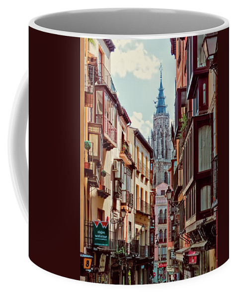 Spain Coffee Mug featuring the photograph Toledo Cityscape by Claude LeTien
