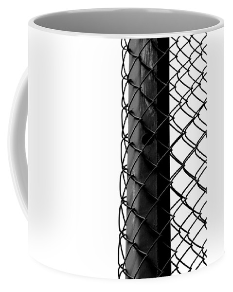 Fence Coffee Mug featuring the photograph Tolerated Tight by The Artist Project