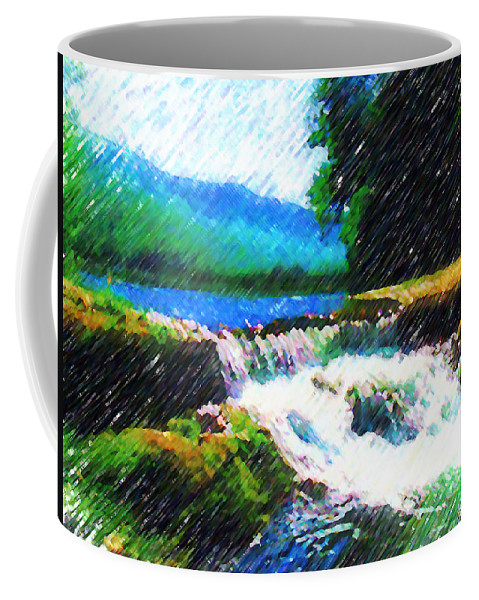 Landscape Coffee Mug featuring the photograph Tolhuaca by Madalena Lobao-Tello