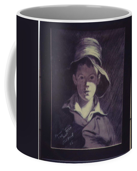 Portrait Coffee Mug featuring the drawing Tom Sully's, Torn Hat by Paul McCall