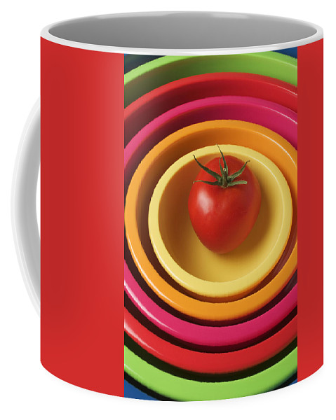 Tomato Coffee Mug featuring the photograph Tomato In Mixing Bowls by Garry Gay