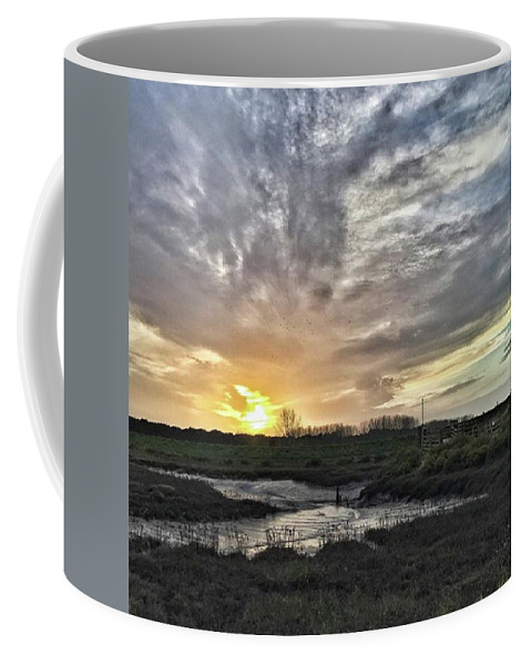 Natureonly Coffee Mug featuring the photograph Tonight's Sunset From Thornham by John Edwards