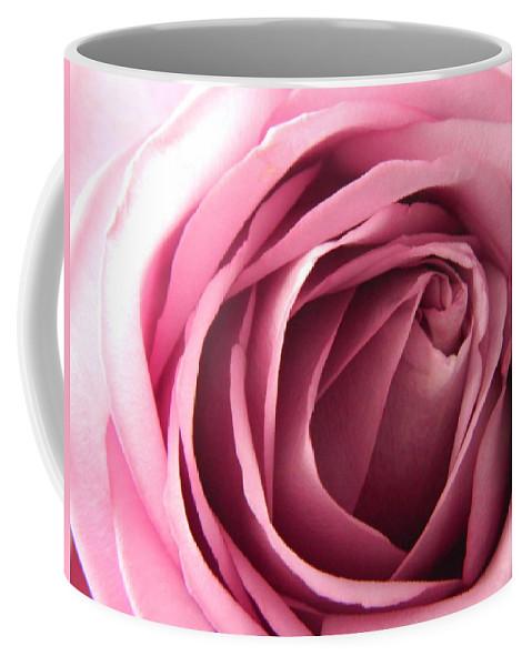Pink Coffee Mug featuring the photograph Toni's Rose by Karen Mesaros