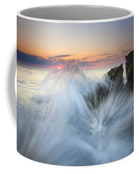 Sunrise Coffee Mug featuring the photograph Too Close For Comfort by Mike Dawson