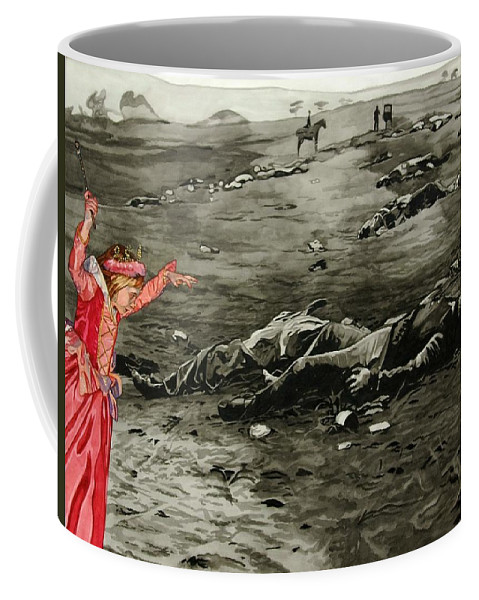 War Coffee Mug featuring the painting Too Late by Valerie Patterson