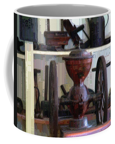 Americana Coffee Mug featuring the digital art Tools For The Times by RC DeWinter