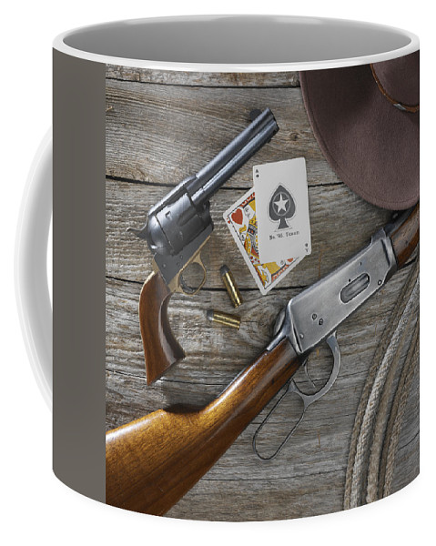 Old West Coffee Mug featuring the photograph Tools Of The Trade by Jerry McElroy