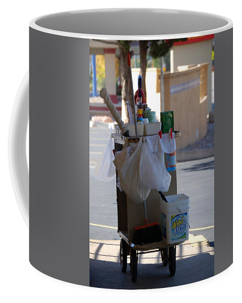 Color Photography Coffee Mug featuring the photograph Tools Of The Trade by Kirk Griffith