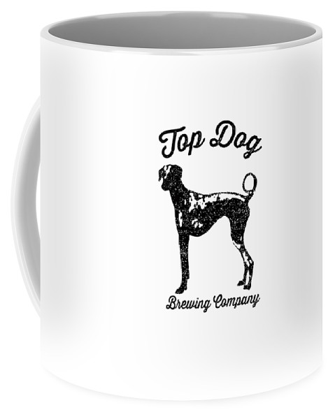 Dog Coffee Mug featuring the drawing Top Dog Brewing Company Tee by Edward Fielding