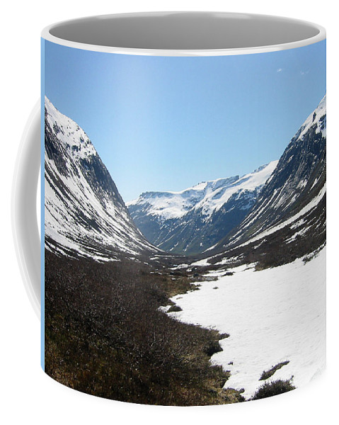 Mountain Coffee Mug featuring the photograph Top Of Rv 63 by Are Lund