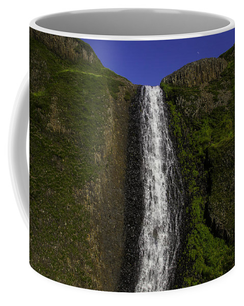 North Table Mountain Ecological Reserve Falls Coffee Mug featuring the photograph Top Of The Falls by Garry Gay
