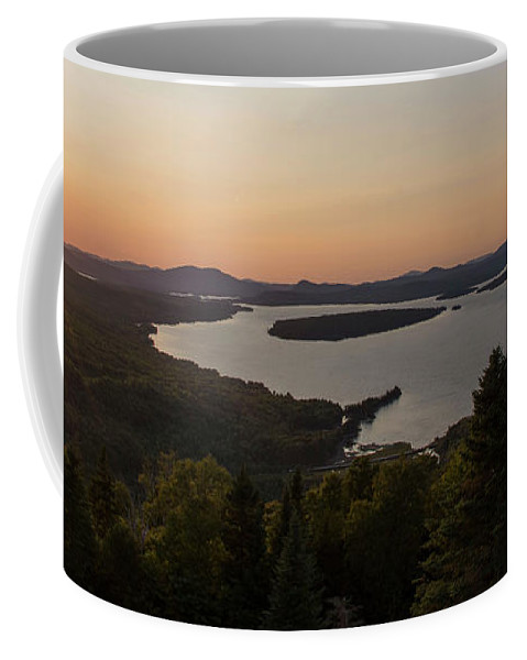 Landscape Coffee Mug featuring the photograph Top Of The World by Jan Mulherin