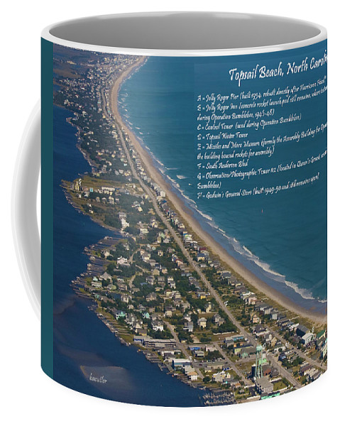 Topsail Coffee Mug featuring the photograph Topsail Beach by Betsy Knapp
