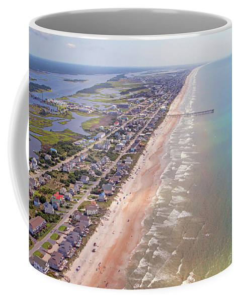 Topsail Coffee Mug featuring the photograph Topsail Buzz Surf City by Betsy Knapp