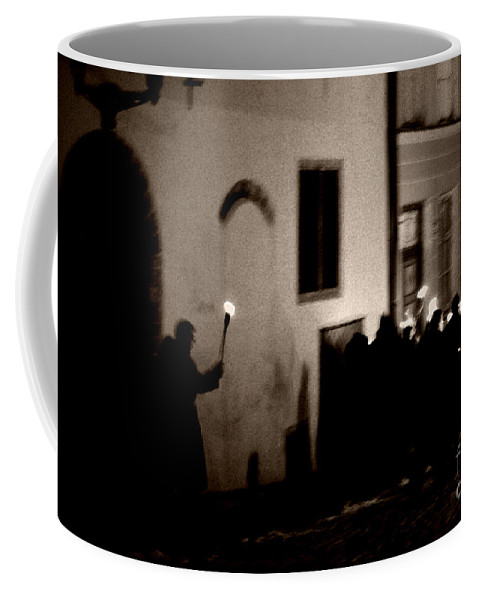 Torches Coffee Mug featuring the photograph Torchlit Procession by Kira Hagen
