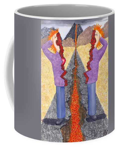 Frustration Coffee Mug featuring the painting Torn by Catherine G McElroy