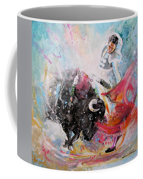 Animals Coffee Mug featuring the painting Toro Tempest by Miki De Goodaboom