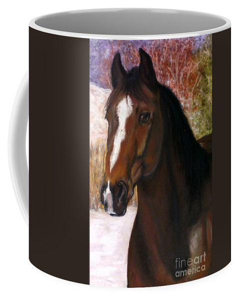 Horse Coffee Mug featuring the painting Toronto by Frances Marino