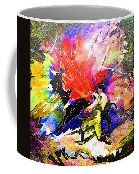 Animals Coffee Mug featuring the painting Toroscape 06 by Miki De Goodaboom