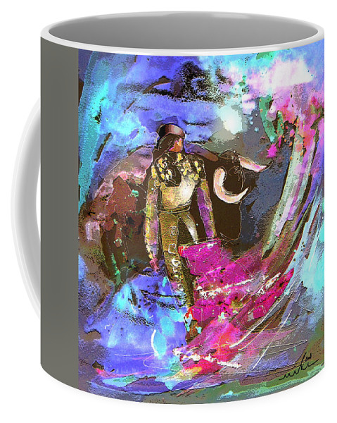Animals Coffee Mug featuring the painting Toroscape 07 by Miki De Goodaboom