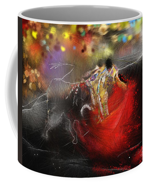 Animals Coffee Mug featuring the painting Toroscape 18 by Miki De Goodaboom