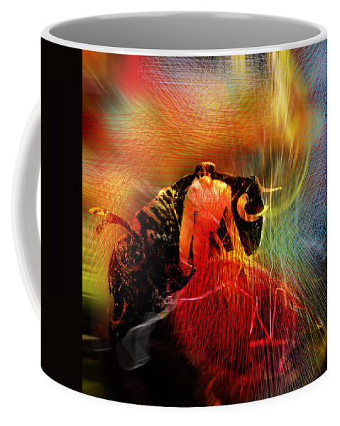 Toros Coffee Mug featuring the painting Toroscape 19 by Miki De Goodaboom