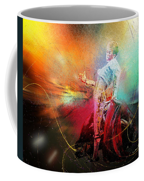 Animals Coffee Mug featuring the painting Toroscape 25 by Miki De Goodaboom