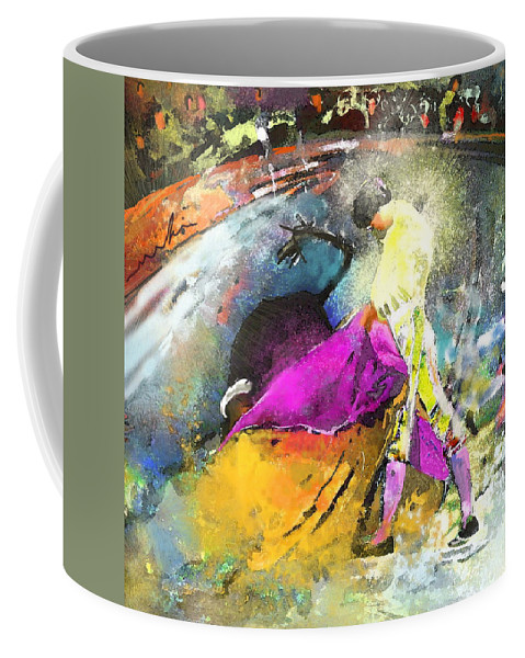 Animals Coffee Mug featuring the painting Toroscape 28 by Miki De Goodaboom